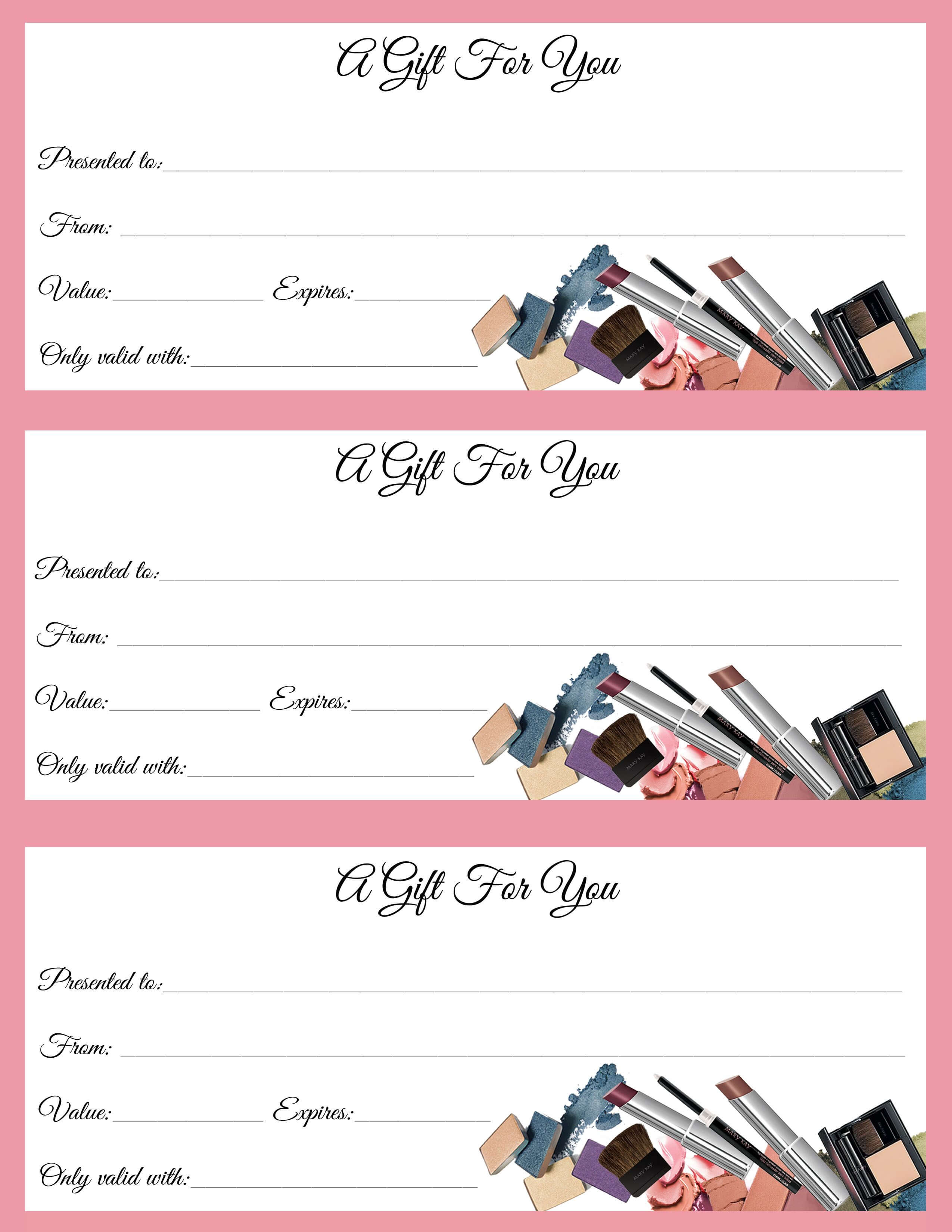 Gift Certificates Just In Time For Call Or Text To Order Jen For Mary Kay Gift Certificate Template