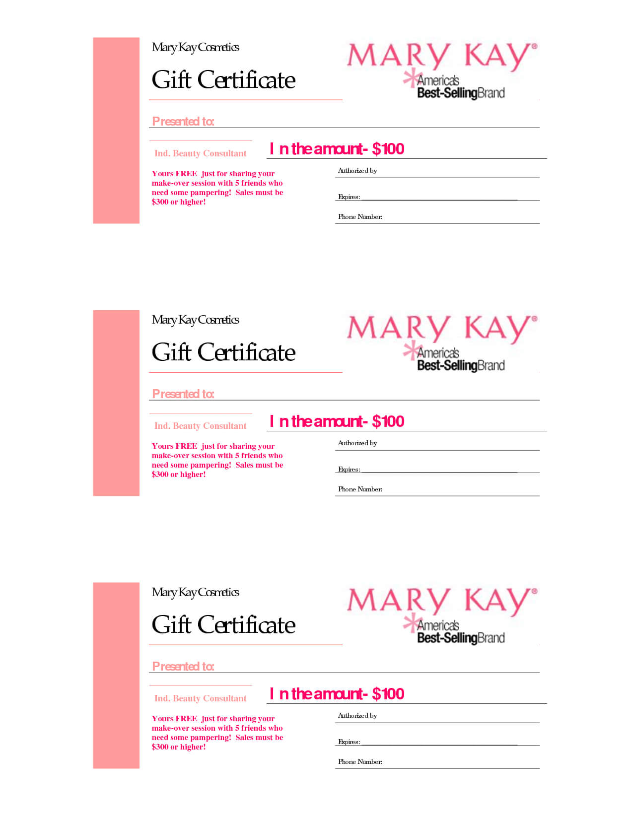 Gift Certificates | Mary Kay Gift Certificate! Checo That In Mary Kay Gift Certificate Template