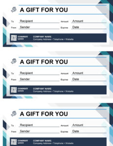 Gift Certificates pertaining to Company Gift Certificate Template