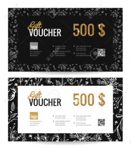 Gift Voucher Coupon Discount. Elegant Gift Certificate Template.. in Elegant Gift Certificate Template