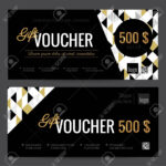 Gift Voucher Coupon Discount. Elegant Gift Certificate Template.. Intended For Black And White Gift Certificate Template Free