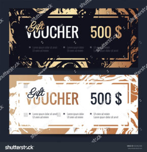 Gift Voucher Coupon Discount Elegant Gift Stock Vector throughout Elegant Gift Certificate Template