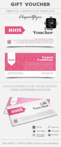 Gift Voucher – Free Gift Certificate Psd Template | Design Regarding Gift Certificate Template Photoshop