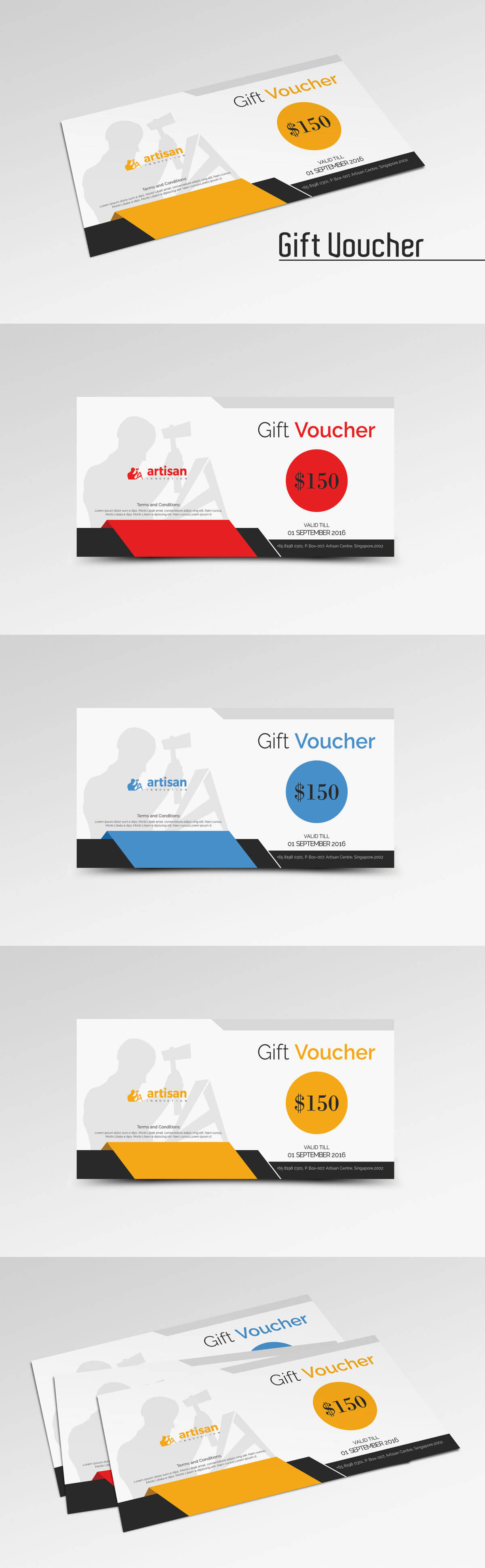 Gift Voucher Template Ai, Eps, Psd | Gift Voucher Templates For Gift Card Template Illustrator