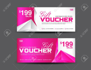 Gift Voucher Template, Coupon Design, Pink Gift Certificate,.. with regard to Pink Gift Certificate Template