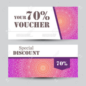 Gift Voucher Template With Mandala. Design Certificate For Sport.. intended for Magazine Subscription Gift Certificate Template