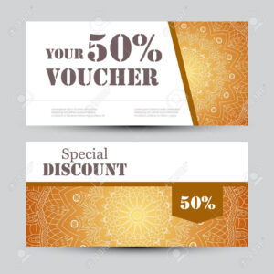 Gift Voucher Template With Mandala. Design Certificate For Sport.. with regard to Yoga Gift Certificate Template Free