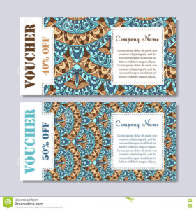 Gift Voucher Template With Mandala. Design Certificate For throughout Magazine Subscription Gift Certificate Template
