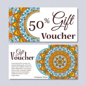 Gift Voucher Template With Mandala. Design Certificate For with regard to Magazine Subscription Gift Certificate Template