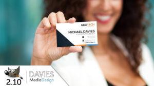 Gimp 2.10 Tutorial: Design A Business Card For Print (2018) with regard to Gimp Business Card Template
