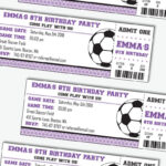 Girl Soccer Party Invitation – Girl Soccer Birthday Pertaining To Soccer Thank You Card Template