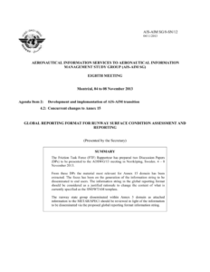 Global Reporting Format For Runway Surface Condition inside Rapporteur Report Template