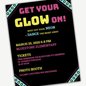 Glow Dance Flyer Template Editable In Word And Pages For Dance Flyer Template Word