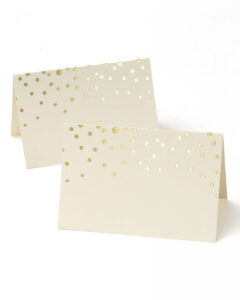 Gold Foil Dots Place Cards for Gartner Studios Place Cards Template