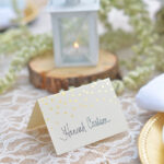 Gold Foil Dots Place Cards Pertaining To Gartner Studios Place Cards Template