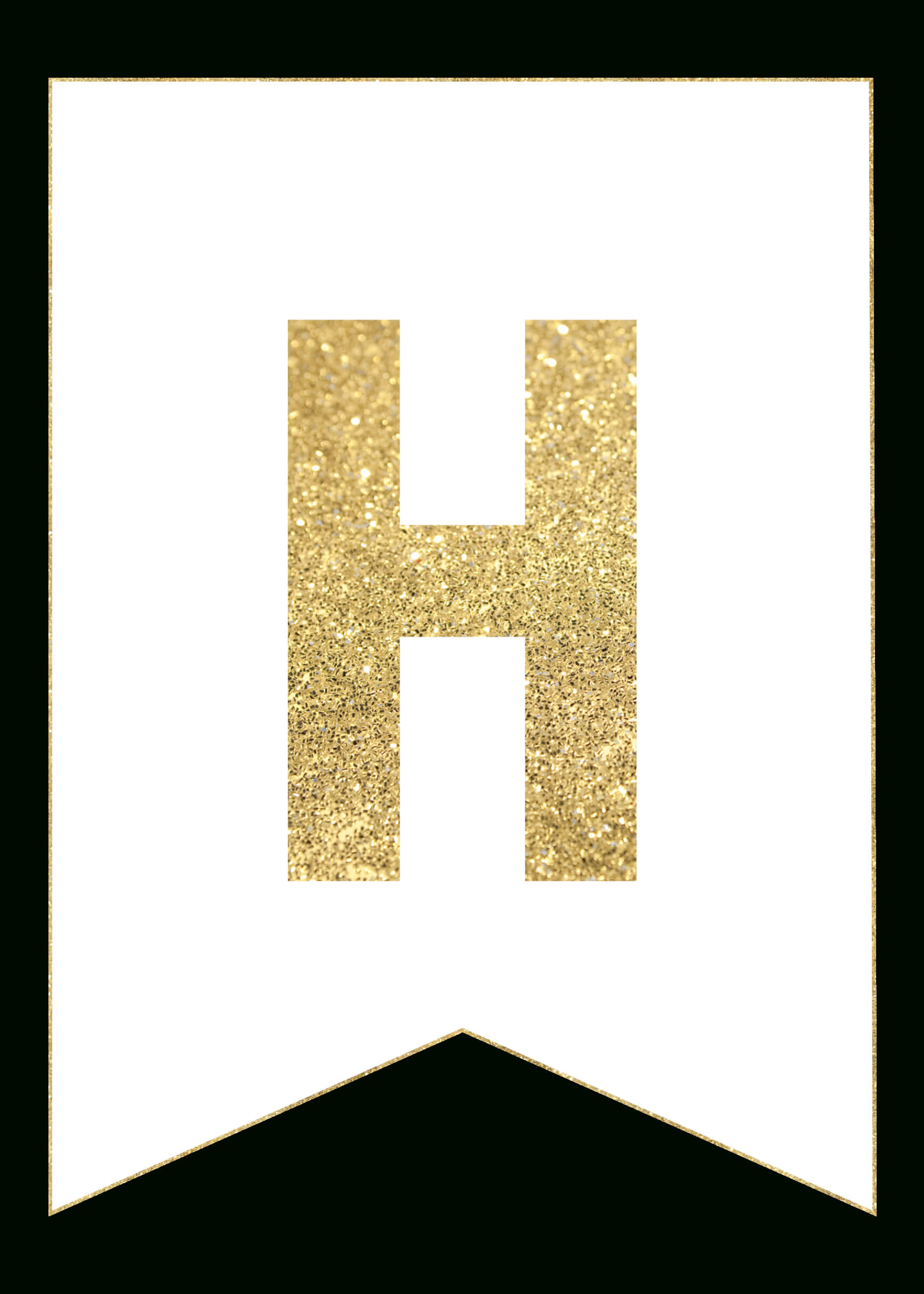 Gold Free Printable Banner Letters | Templates | Free With Regard To Free Letter Templates For Banners