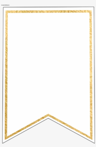 Gold Pennant Banner Blank Template Flag Banner Template throughout Printable Pennant Banner Template Free