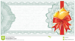 Golden Christmas Gift Certificate Or Discount Stock Vector pertaining to Free Christmas Gift Certificate Templates