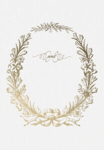 Golden Wreath – Wedding Invitation Template (Free with regard to Blank Templates For Invitations