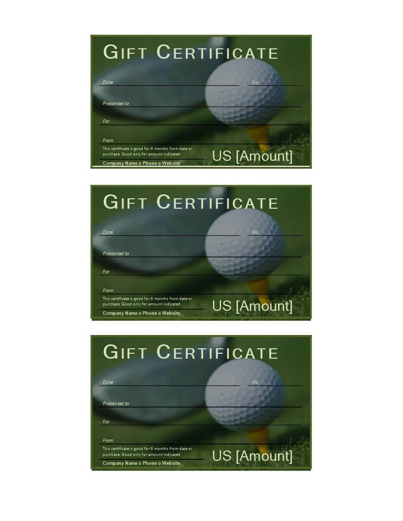 Golf Gift Certificate – Download This Free Printable Golf Regarding Golf Certificate Templates For Word