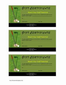 Golf Gift Certificate Inside Golf Certificate Templates For Word