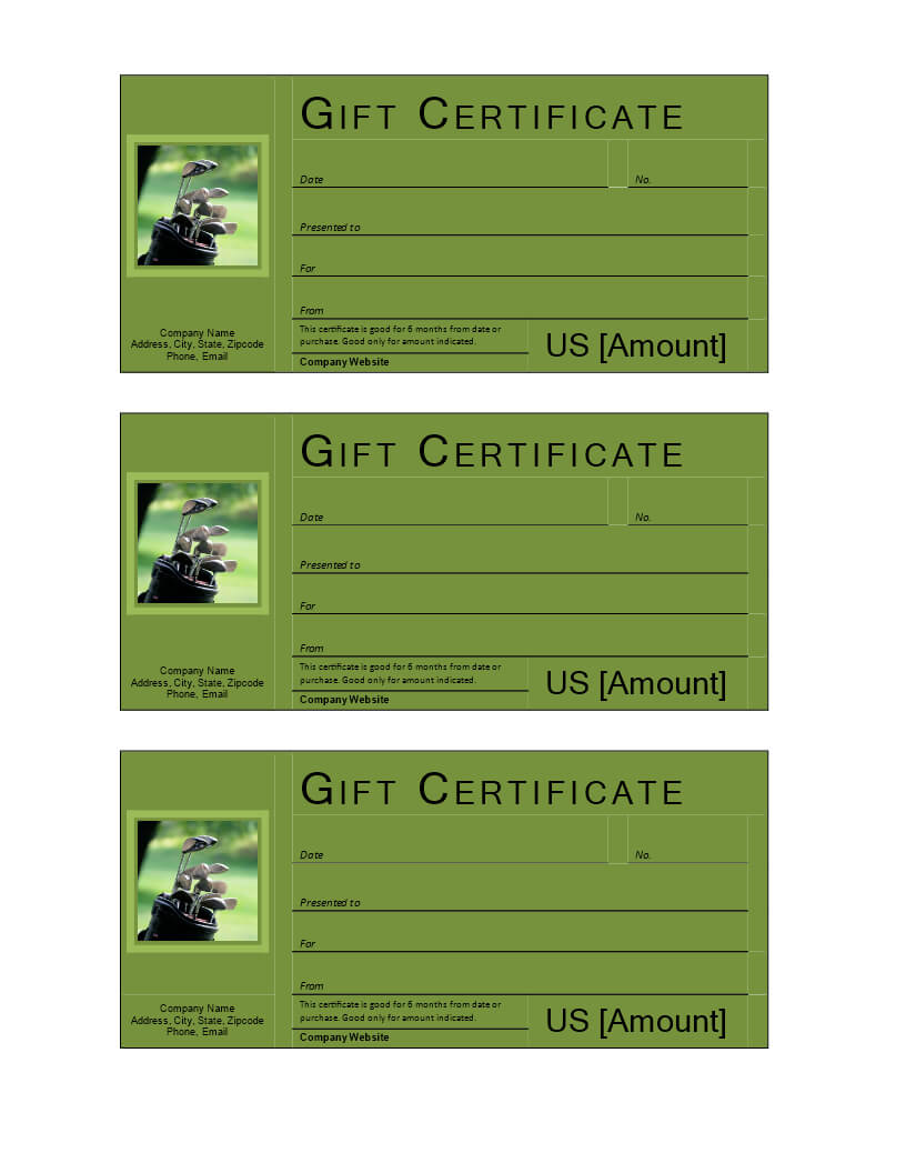 Golf Gift Voucher – Download This Free Printable Golf Gift Intended For Golf Certificate Templates For Word