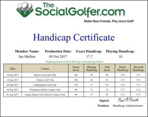 Golf Handicap Certificate Template Free inside Golf Certificate Template Free