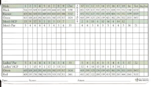 Golf Scorecard Template | Template Business In Golf Score Cards Template