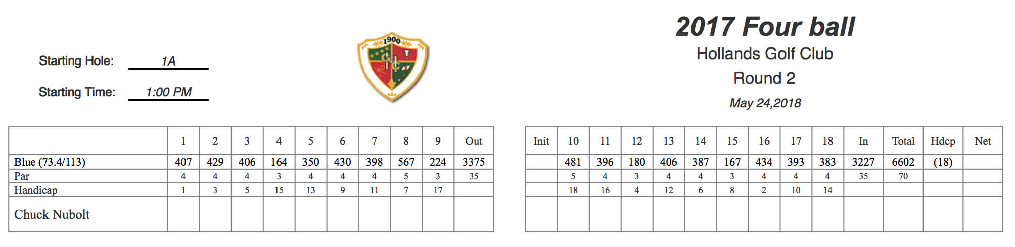 Golfgenius – Printing Scorecards (Format Tab) With Golf Score Cards Template