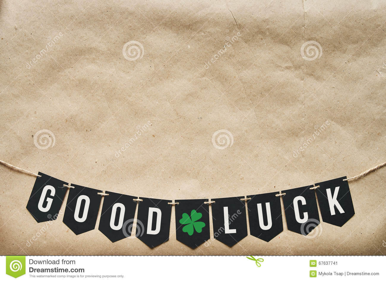 Good Luck Banner Lettering Stock Image. Image Of Craft Intended For Good Luck Banner Template