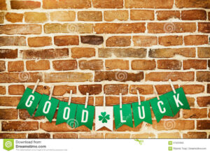Good Luck Banner Lettering Stock Image. Image Of Handmade for Good Luck Banner Template