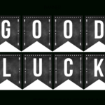 Good Luck Banner Template Best Template Examples | Sweet pertaining to Good Luck Banner Template