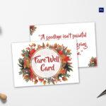 Goodbye Farewell Invitation Card Template For Goodbye Card Template