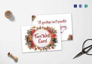 Goodbye Farewell Invitation Card Template within Farewell Invitation Card Template