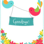 Goodbye From Your Colleagues – Good Luck Card (Free Intended For Goodbye Card Template