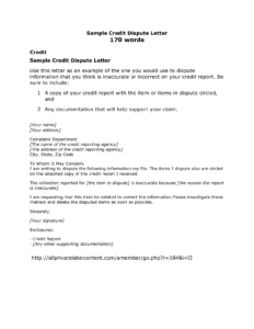 Got To Maintain Good Credit? Here's A List   Credit   Credit with Credit Report Dispute Letter Template