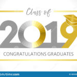 Graduating Class Of 2019 Vector Illustration Stock Vector With Graduation Banner Template