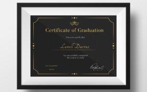 Graduation Certificate Template #73893 with Commemorative Certificate Template