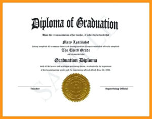 Graduation Certificate Template Word for Graduation Certificate Template Word