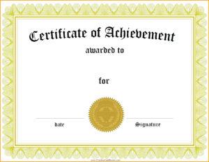 Graduation Certificate Template Word – Wovensheet.co in Certificate Of Achievement Template Word