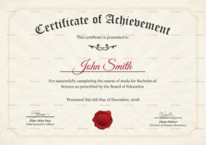 Graduation Degree Certificate Template throughout College Graduation Certificate Template
