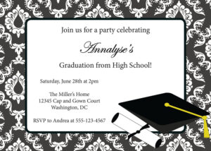 Graduation Invitation Templates Free Mfjzzklz | Graduation with Graduation Party Invitation Templates Free Word