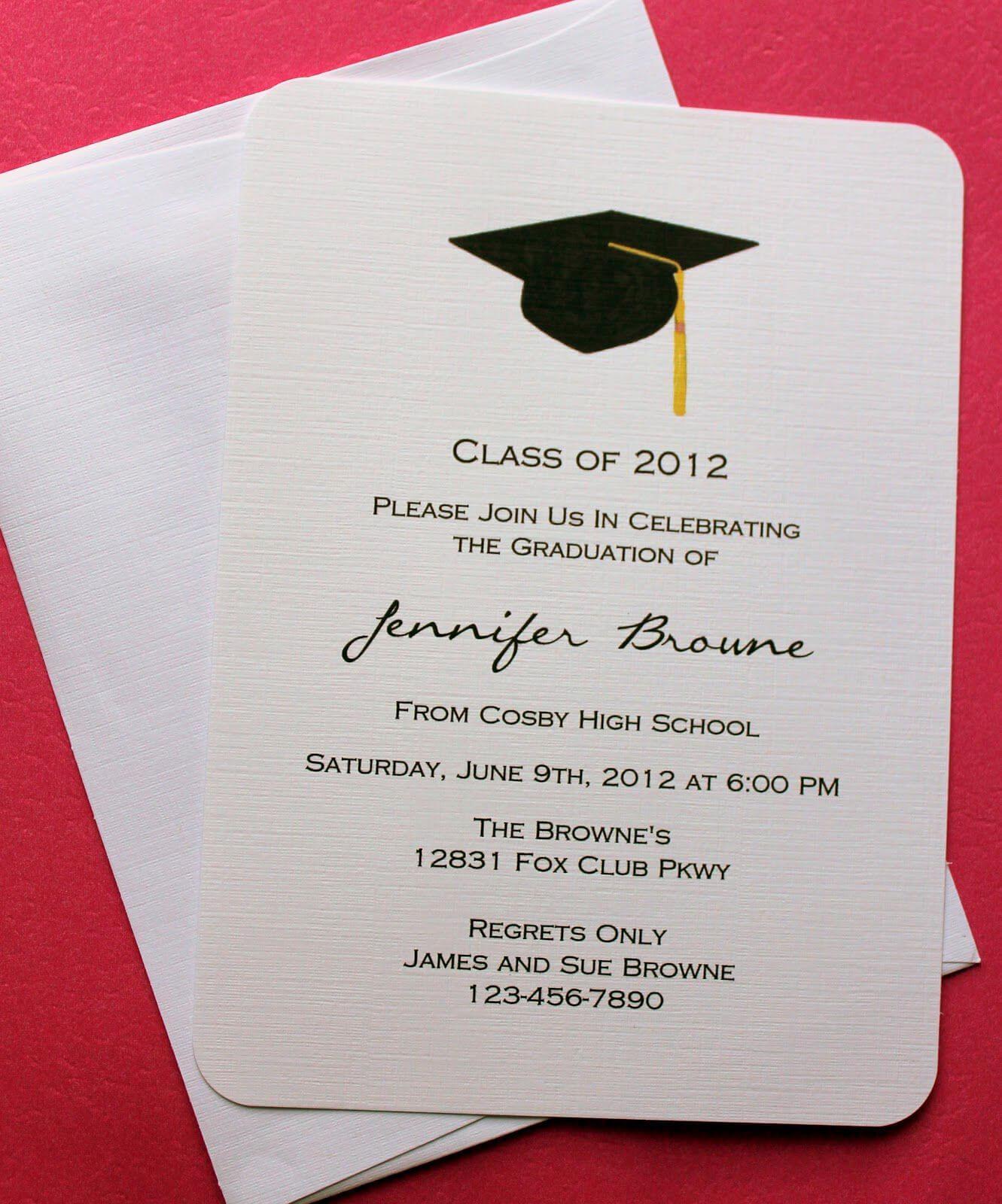 Graduation Invitation Templates Microsoft Word | Invitations Pertaining To Graduation Party Invitation Templates Free Word