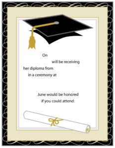 Graduation Invitations: Free Graduation Invitation Cards with Graduation Party Invitation Templates Free Word