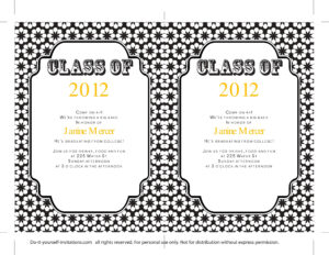 Graduation Invitations: Graduation Invitations Templates within Free Graduation Invitation Templates For Word