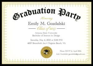 Graduation Party Invitation Templates Free Word regarding Free Graduation Invitation Templates For Word
