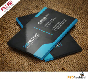Graphic Designer Business Card Template Free Psd inside Photoshop Name Card Template