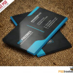 Graphic Designer Business Card Template Free Psd Inside Visiting Card Templates For Photoshop