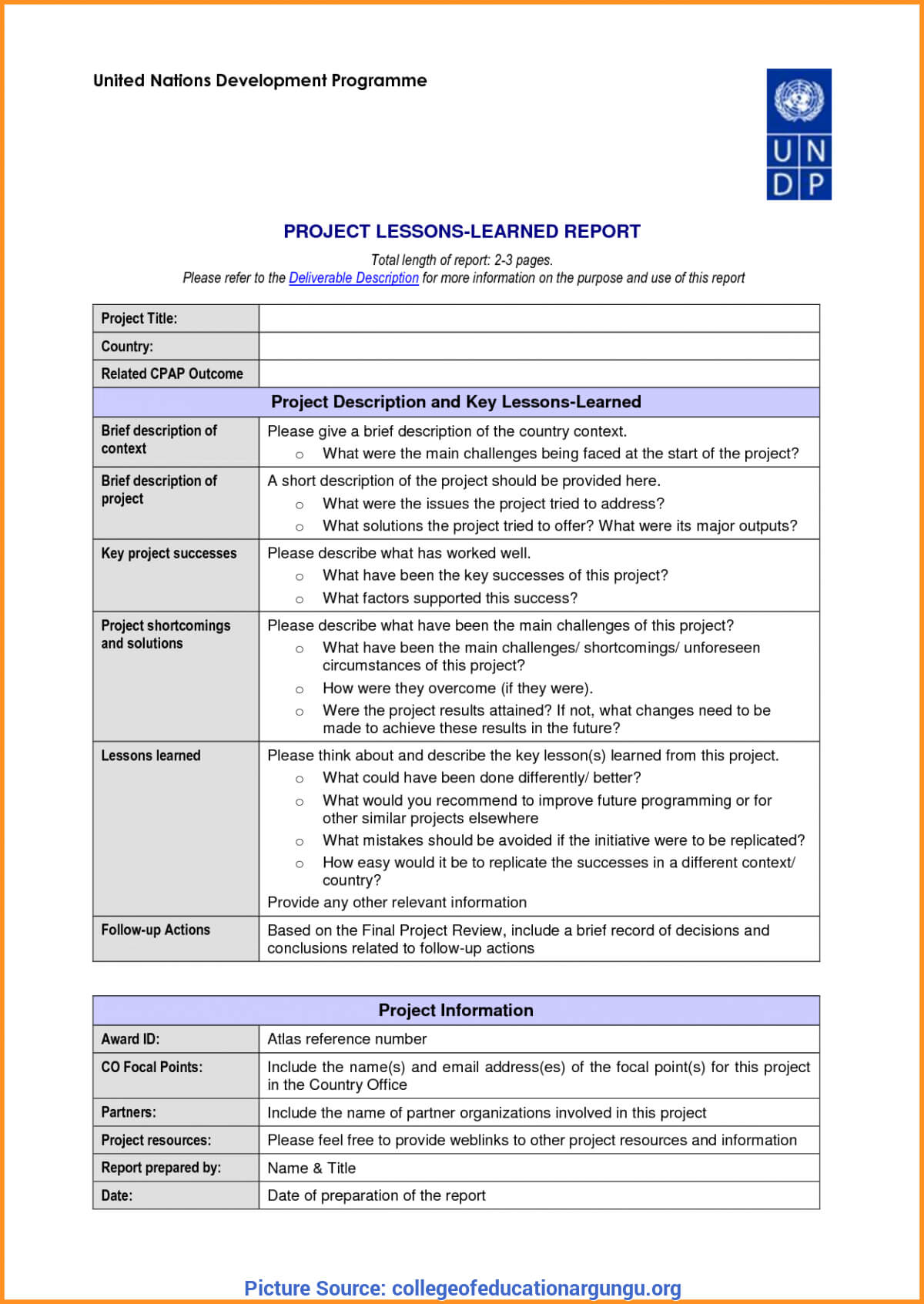 Great Hse Lessons Learned Template 23 Lessons Learnt Report For Hse Report Template