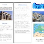 Greece Travel Brochure/kids Writing Project   Europe Unit In Travel Brochure Template Ks2